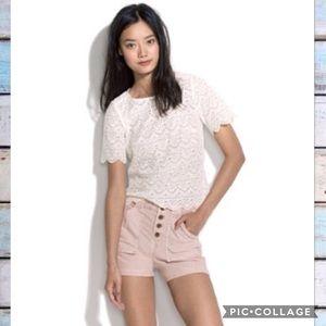 Alexa Chung for Madewell Thora Cord Shorts